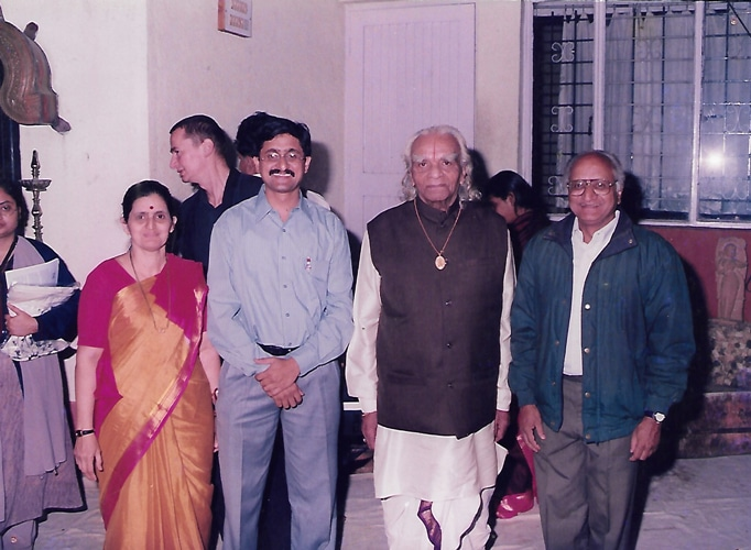 Abhay with Guruji and his parents